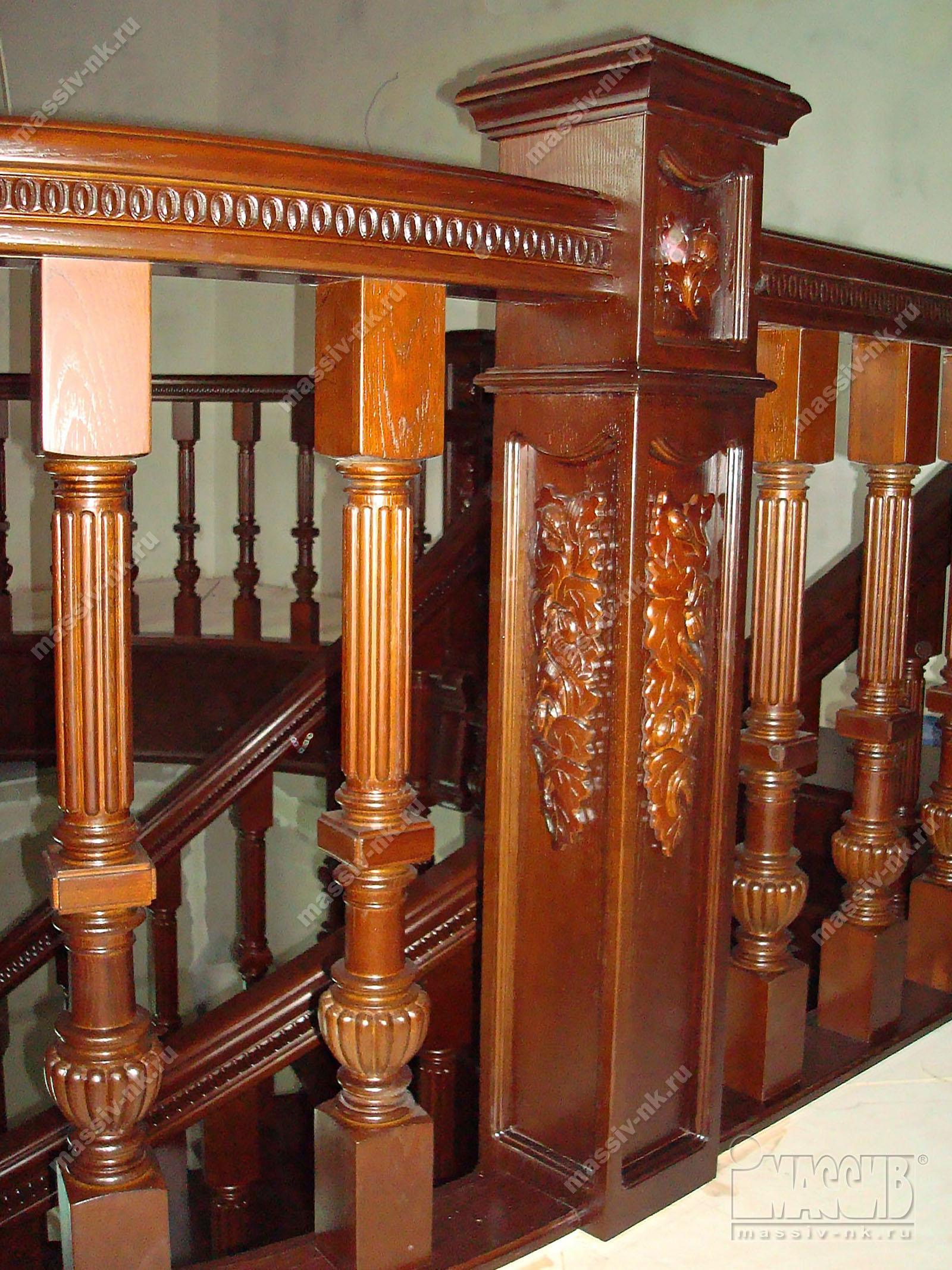 Балясины из бука - Балясины для лестниц из сосны, бука
